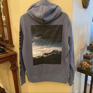 HOLLISTER Blue Graphic Hoodie Sweatshirt-Large